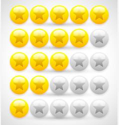 glossy balls star rating 5 star rating vector image