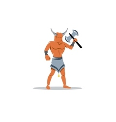 Greek monster Minotaur sign vector