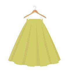 Green skirt template design fashion woman women vector
