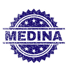 Grunge textured medina stamp seal vector