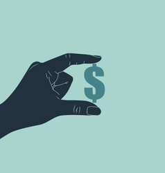 hand with dollar symbol vector image