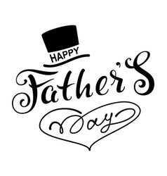 Happy fathers day text lettering for greeting card vector