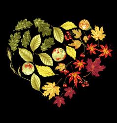 Heart shape decorative element in rainbow vector