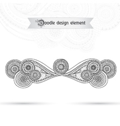 Henna Paisley Mehndi Doodles Floral Element vector image
