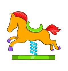 Horse spring see saw icon cartoon style vector