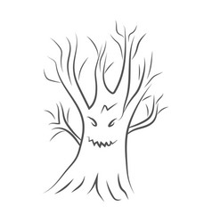 Icon of a scary tree for halloween vector