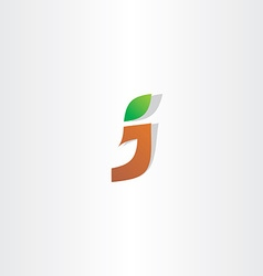 letter j logotype logo icon vector image
