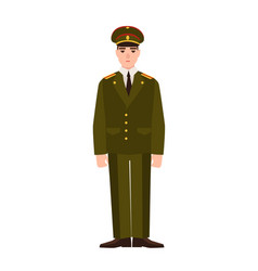 Military man of russian armed force wearing vector