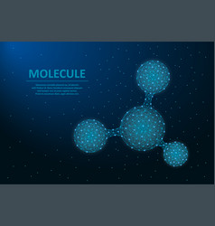 molecule made by points and lines structure of vector image