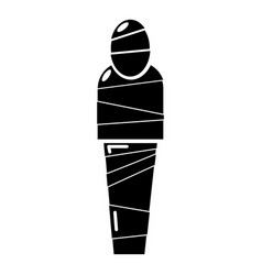mummy egypt icon simple black style vector image