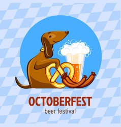 octoberfest beer festival concept background vector image