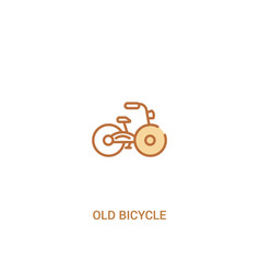 Old bicycle concept 2 colored icon simple line vector