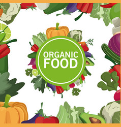 Organic food healthy freshness eating vector