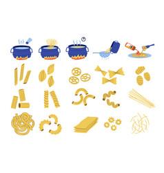 Pasta cook doodle recipe spaghetti cooking vector