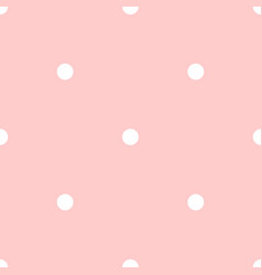 Polka dots on pink background seamless pattern vector