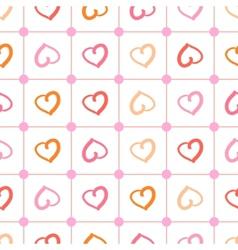 Polka heart vector