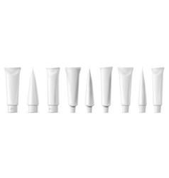 realistic tube mockup white plastic tuba vector image