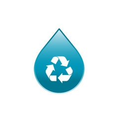 Recycle water icon vector