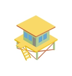 Rescue tower icon isometric 3d style vector