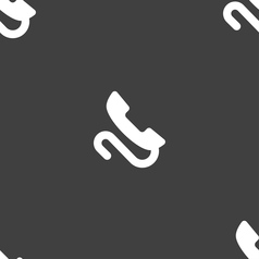 retro telephone handset icon sign Seamless pattern vector image