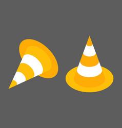 road cones isometrisk flat design element icon vector image