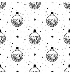 Seamless pattern mystical poison with moon vector