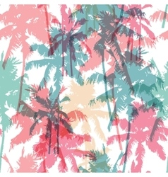 Seamless pattern with palm trees vector