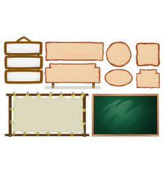 Set of empty board vector