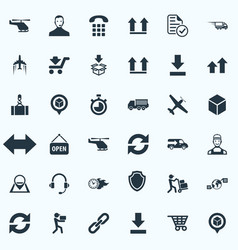 Set of simple engineering icons elements bottom vector