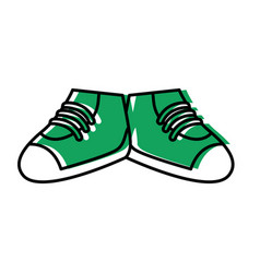 shoes footwear isolated vector image