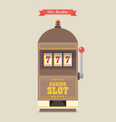slot machine gambling casino item vector image