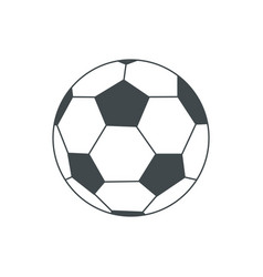 soccer-ball isolated on white for vector image