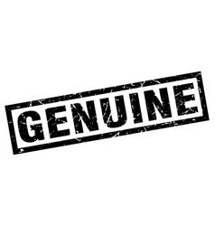 Square grunge black genuine stamp vector