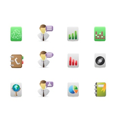 square office icons set vector image