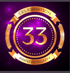 Thirty three years anniversary celebration with vector