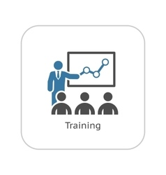 Training Icon Business Concept Flat Design vector image