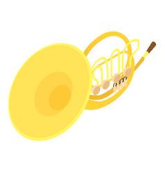 Trombone icon isometric style vector