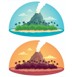 Tropical island on white vector