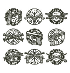 vintage military labels vector image