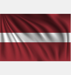 Waving latvia vector
