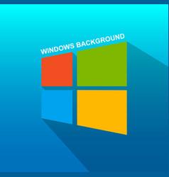 windows logo background image vector image