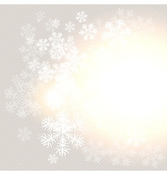 Christmas winter background with snowflake vector image vector image