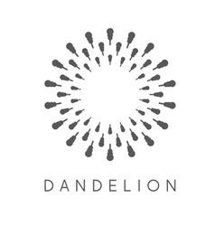 Concept dandelion logo vector