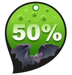 Horrible Halloween discount sale Coupon 50 vector image