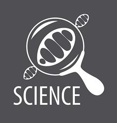 logo DNA through a magnifying glass vector image vector image