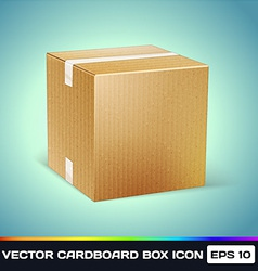 Realistic Cardboard Box Icon vector image vector image
