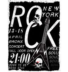 rock poster vintage rock and roll typographic for vector image
