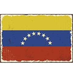 Venezuelan grunge flag vector image vector image