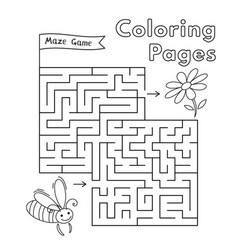 cartoon bee maze game vector image