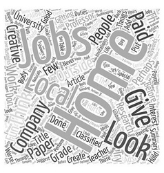 Get Creative With Jobs At Home Word Cloud Concept vector image vector image